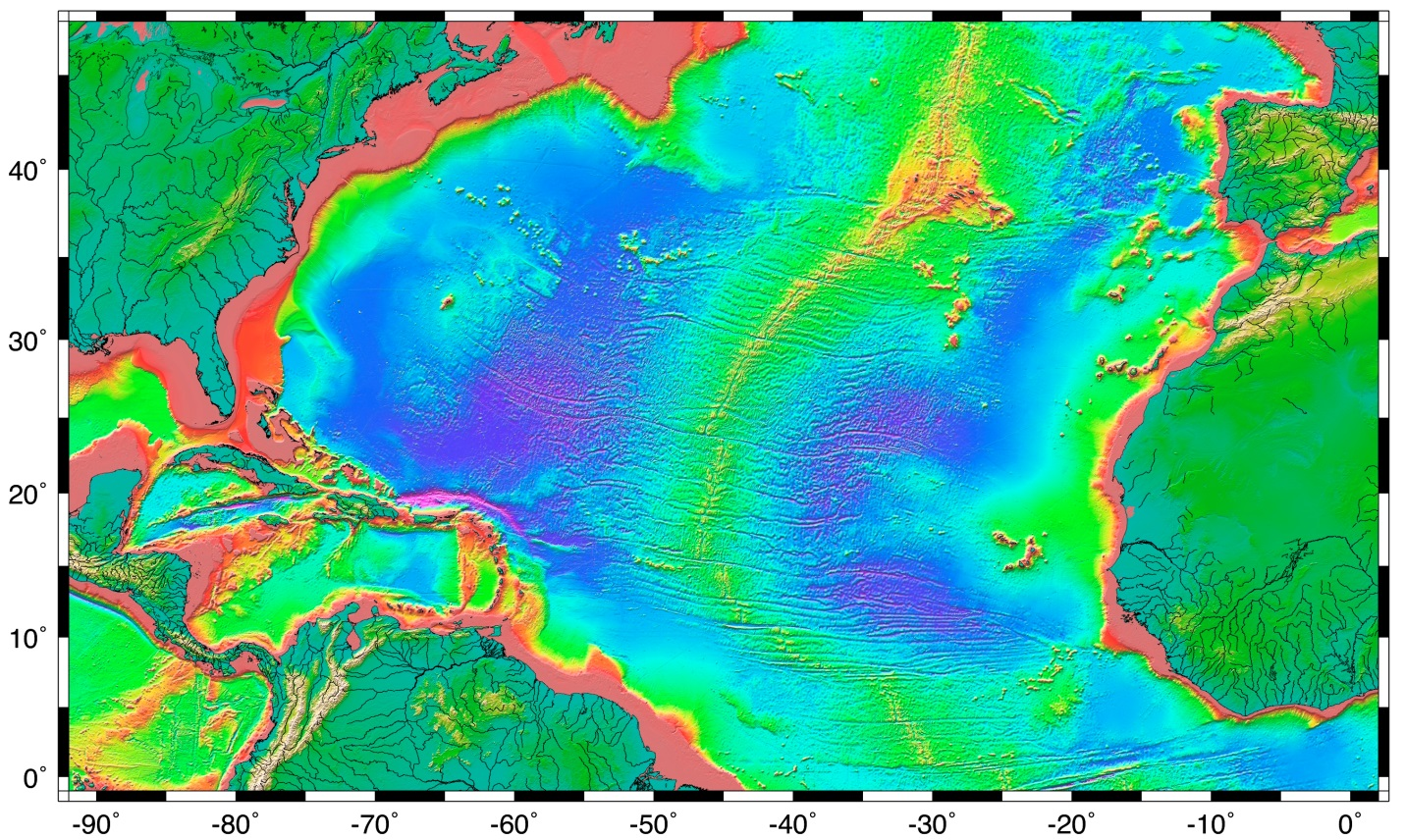 18 1 The Topography Of The Sea Floor Physical Geology