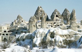 Turrets and spires of Cappadocia during the winter. Photo: beetjedwars/Wikipedia
