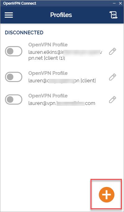 Import a configuration profile
