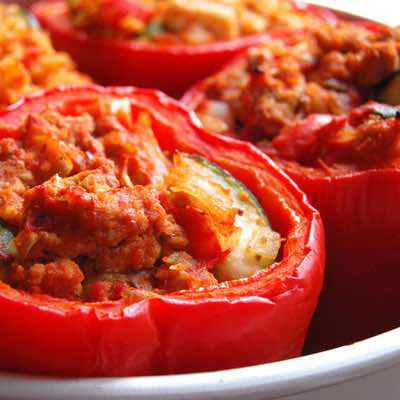 Roasted Paleo Stuffed Bell Peppers