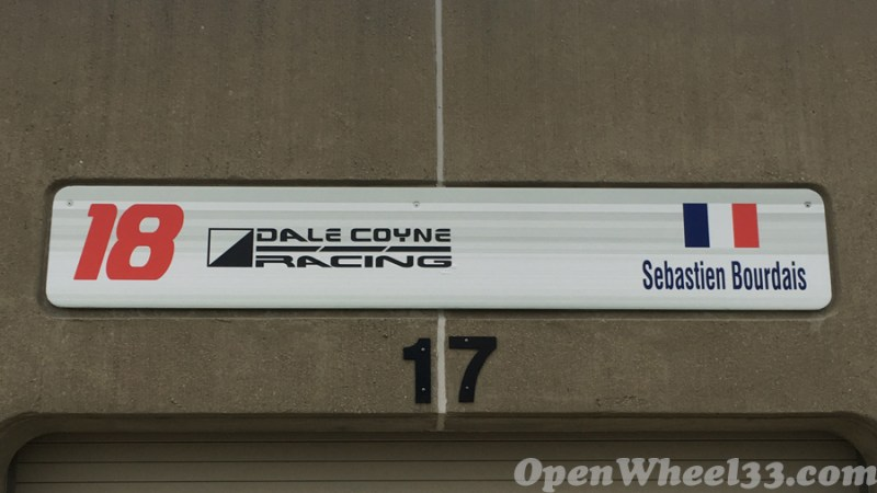 Garage Signs of the 101st Running of the Indianapolis 500 Mile Race - 2017 IMS GARAGE SIGN CAR 18