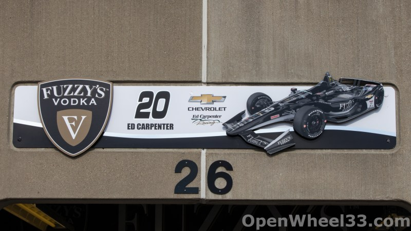 2018 Month of May Garage Signs at Indianapolis Motor Speedway - 2018 INDY 500 GS No. 20