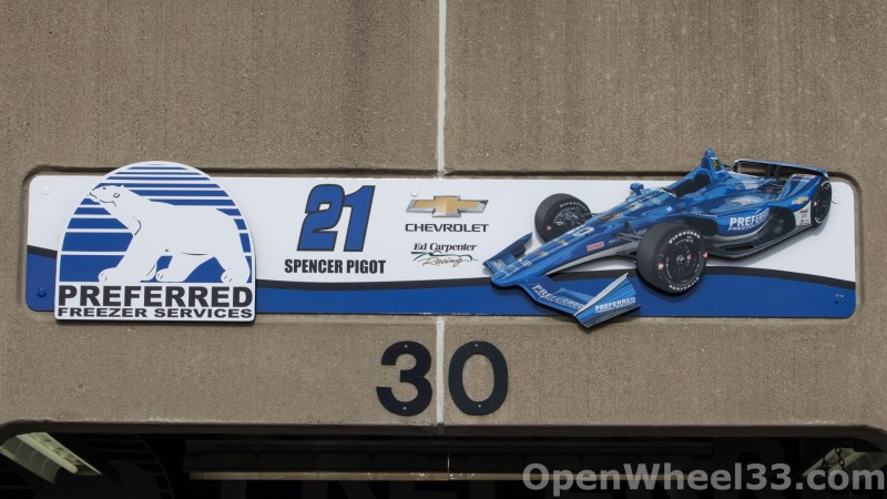 2018 Month of May Garage Signs at Indianapolis Motor Speedway - 2018 INDY 500 GS No. 21