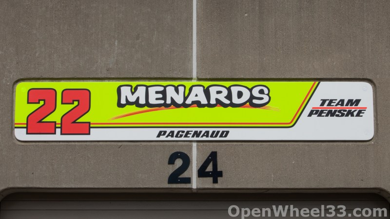 2018 Month of May Garage Signs at Indianapolis Motor Speedway - 2018 INDY 500 GS No. 22
