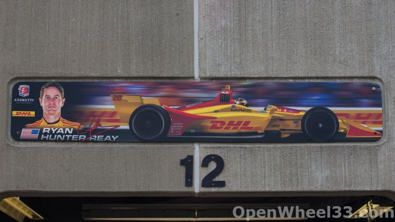 2018 Month of May Garage Signs at Indianapolis Motor Speedway - 2018 INDY 500 GS No. 28
