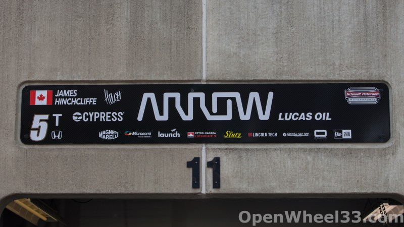 2018 Month of May Garage Signs at Indianapolis Motor Speedway - 2018 INDY 500 GS No. 5t