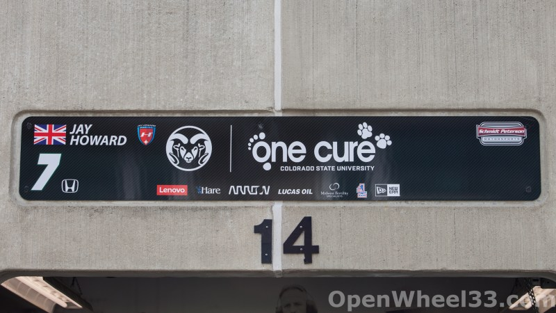 2018 Month of May Garage Signs at Indianapolis Motor Speedway - 2018 INDY 500 GS No. 7