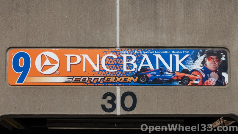 2018 Month of May Garage Signs at Indianapolis Motor Speedway - 2018 INDY 500 GS No. 9