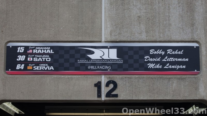 2018 Month of May Garage Signs at Indianapolis Motor Speedway - 2018 INDY 500 GS RLL