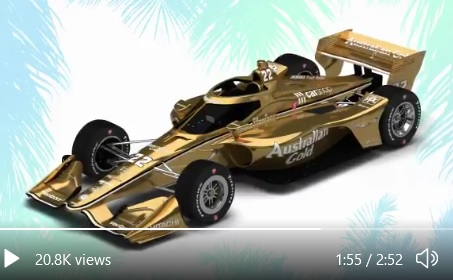 2021 INDYCAR LIVERIES GOLD REVEAL INDYCAR CAR 22