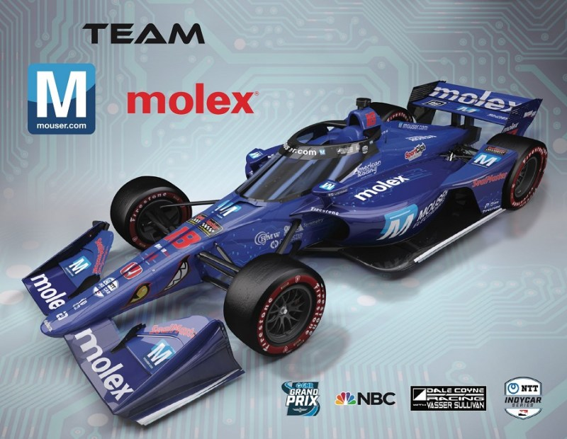 2021 INDYCAR LIVERIES MAY MOUSER REVEAL CAR 18