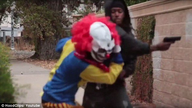 Clown incidents caused schools to shut down and people feared they were armed or trying to lure kids into dangerous situations. Pictured, a YouTube prankster who was pistol whipped after he tried to scare a man in Stockton, California Read more: http://www.dailymail.co.uk/news/article-3886422/US-creepy-clown-craze-puts-damper-Halloween.html#ixzz4OgMZxn8E  Follow us: @MailOnline on Twitter | DailyMail on Facebook