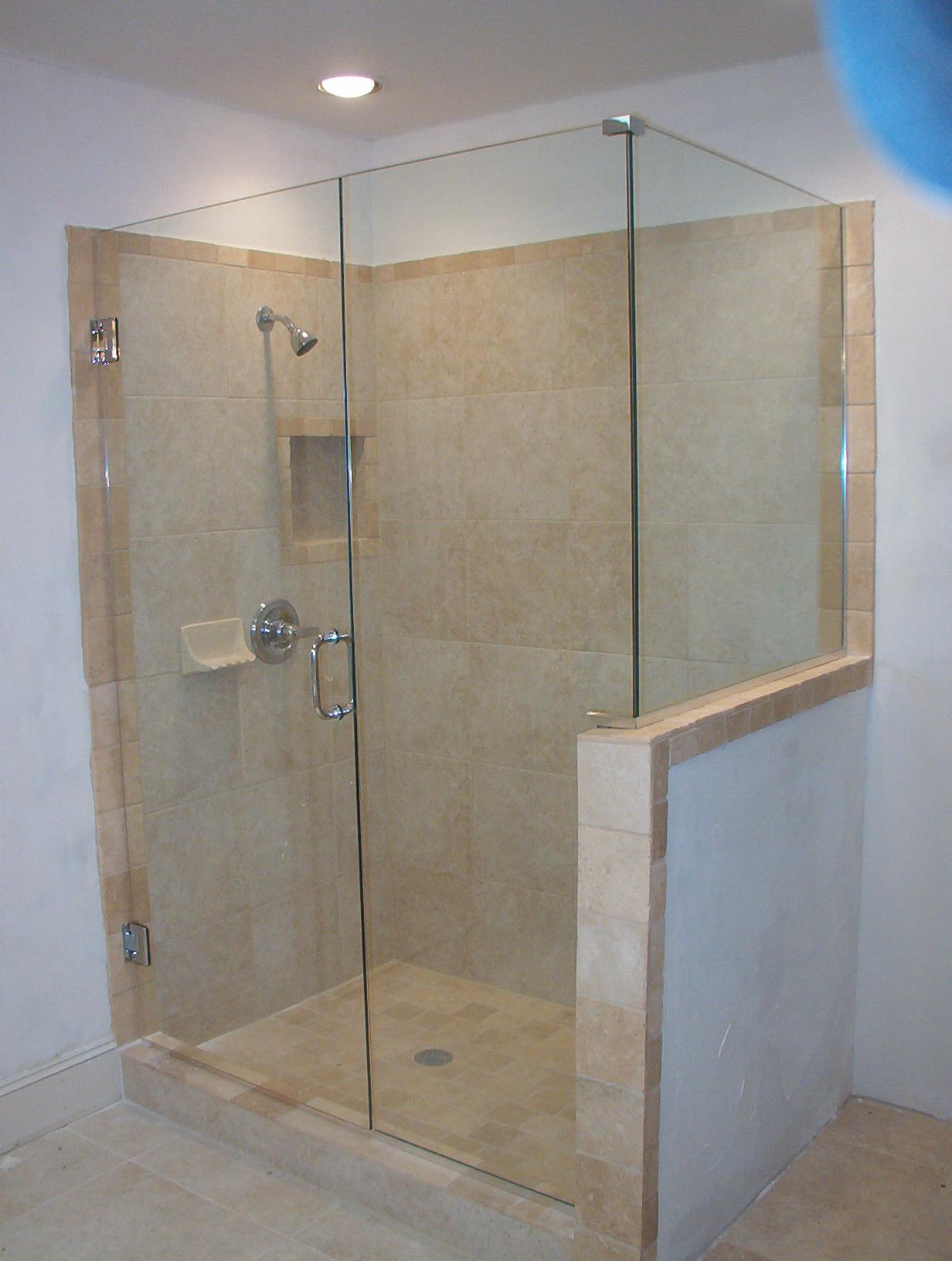 Bathroom Simple Frameless Shower Door Price Range Combine