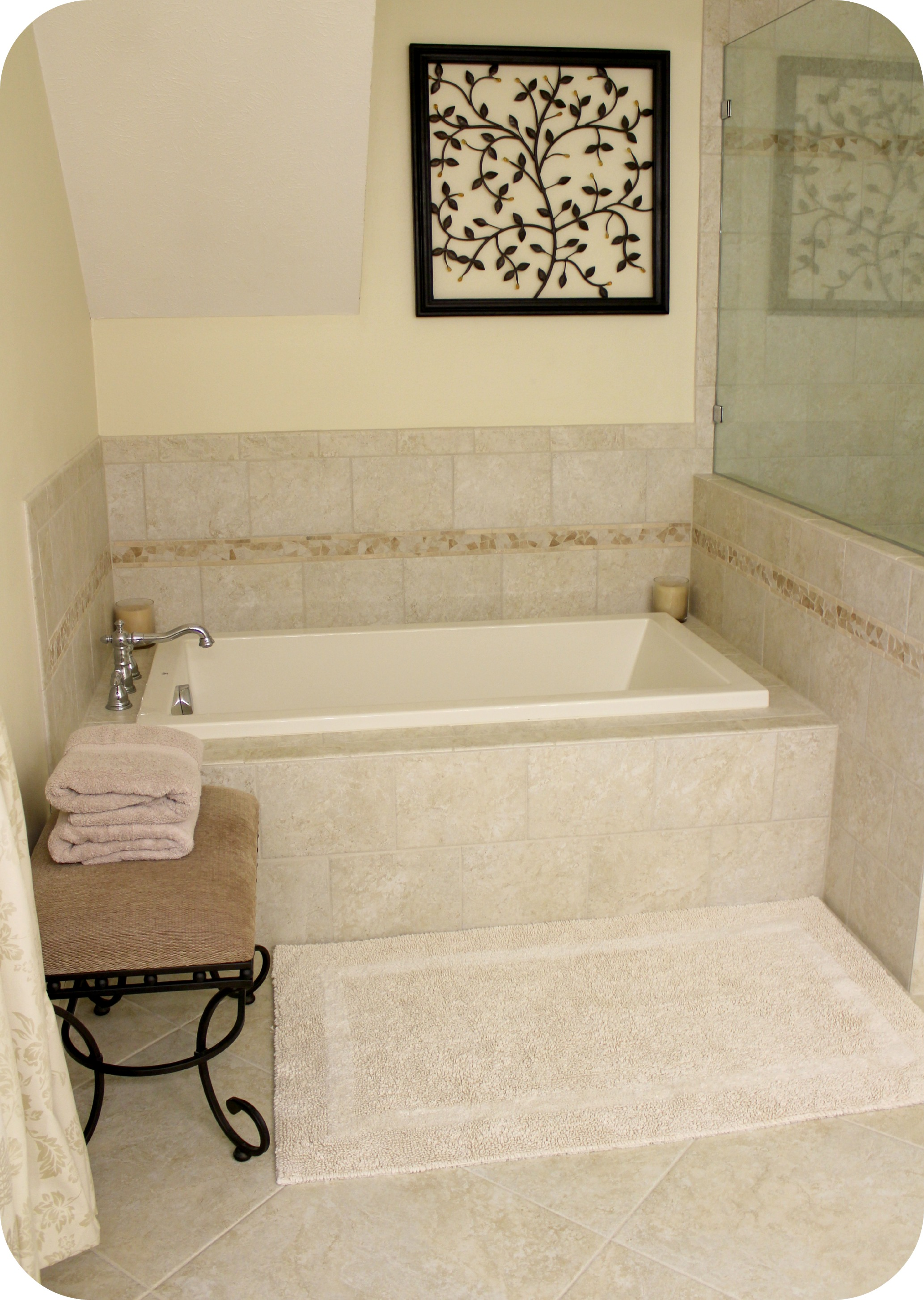 Bathroom Small Soaking Tub With Nice Square Recessed ... on Nice Bathroom Designs For Small Spaces  id=15348