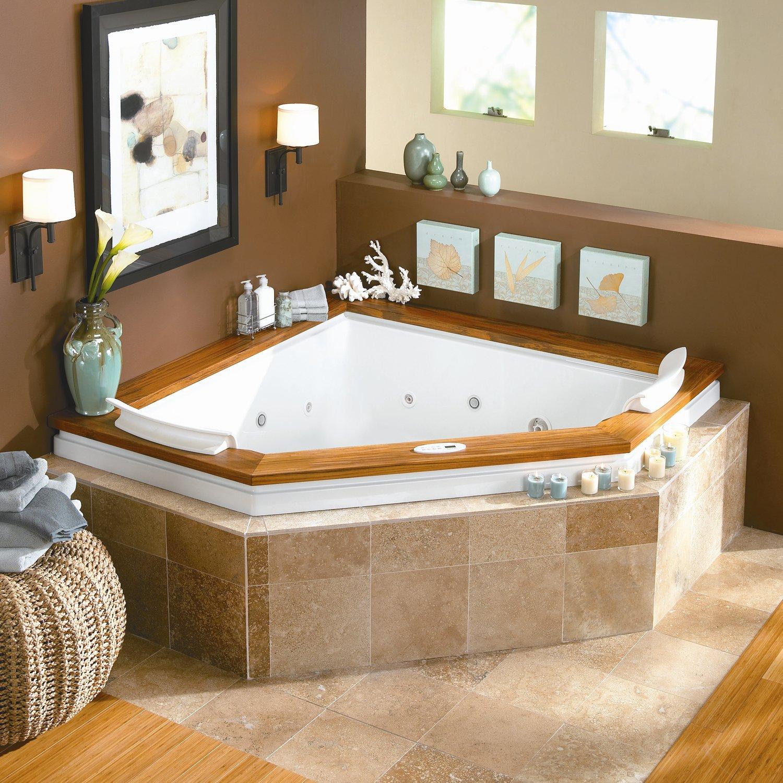 Bathroom Shower Tub Jacuzzi Combo With Charming Corner Tub