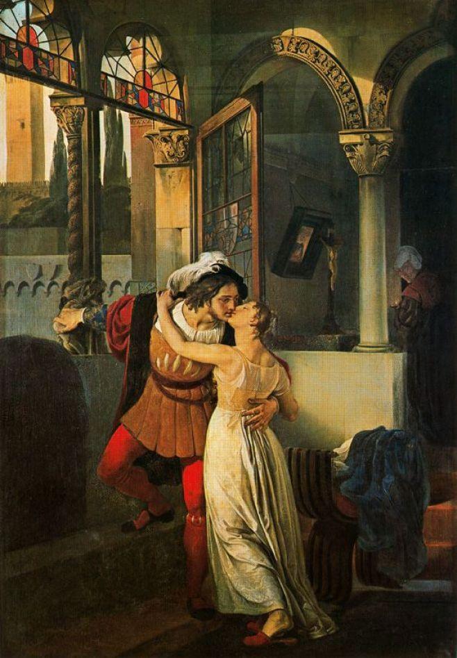 Francesco Hayez: Romeo e Giulietta