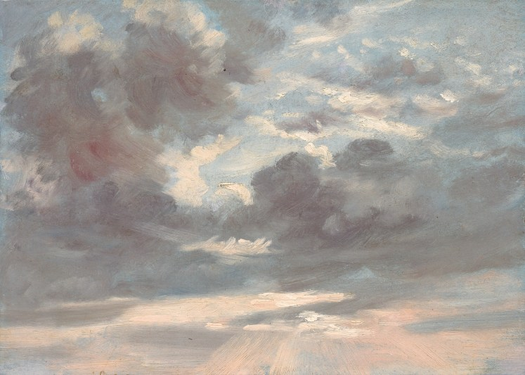 "John Constable, ""Cloud Study: Stormy Sunset,"" 1821-1822, oil on paper on canvas, National Gallery of Art, Washington, Gift of Louise Mellon in honor of Mr. and Mrs. Paul Mellon, 1998.20.1"