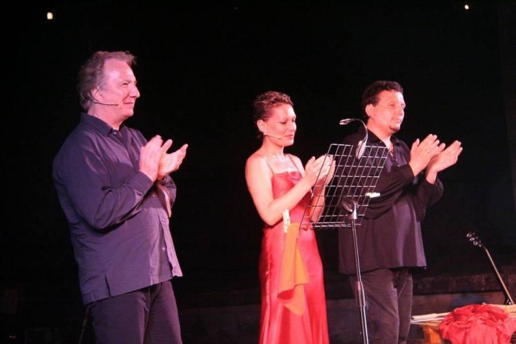 Alan Rickman, Francesca Signorini e Simone Domenico Migkliorini per il Festival internazionale del teatro romano di Volterra