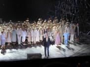Joseph Calleja and Mefistofele cast at curtain call