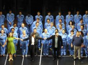 Philippe Jordan and the cast, La Damnatioņ de Faust