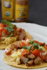 Garlicky Breakfast Tacos
