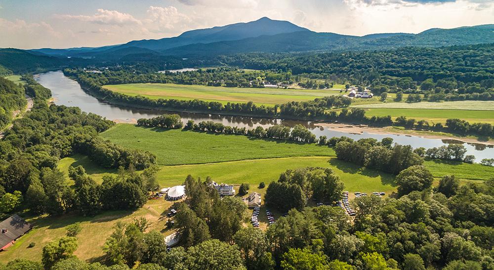 An aerial view of Blow-Me-Down Farm, 2018