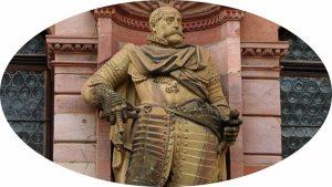 Johannes Casimir welcoming visitors to Heidelberg