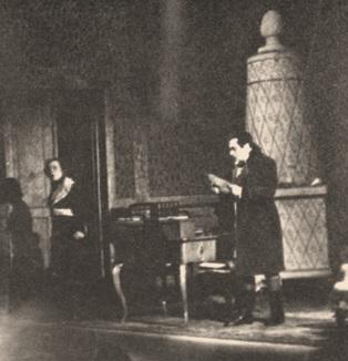 J. Massenet: Werther, Milada Formanová (Charlotta), Otakar Kraus (Albert), Opera SND, 1938, foto: Archív DÚ