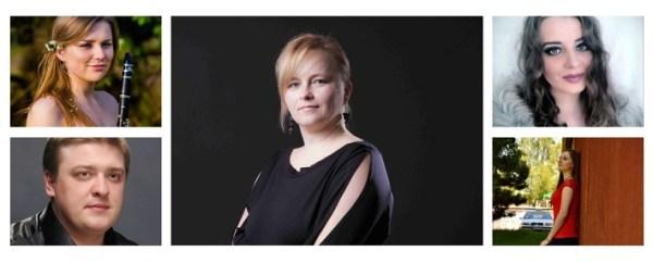 Príďte za operou III. koncert mladých talentov, A. Klasová, M. Kutsenko, J. Grejtáková, Z. Čurmová, B. Diňová, účinkujúci ročníka 2016, koláž: Opera Slovakia