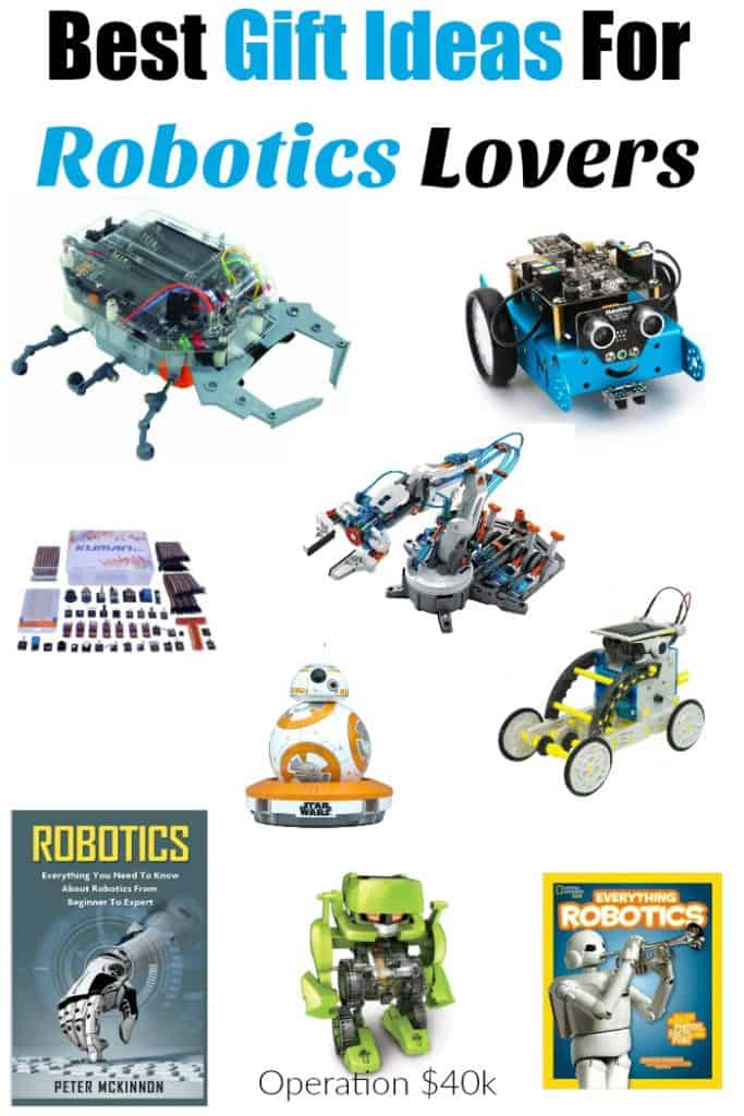 Best Gift Ideas For Robotics Lovers! Don't miss out on these great tips for what to buy the person in your life that loves robots!