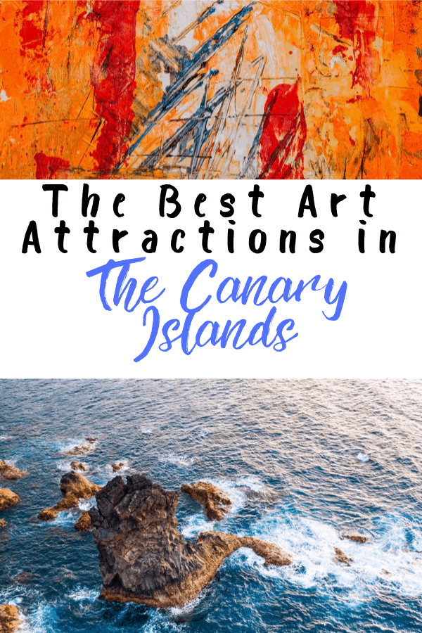 abstract art from the best art attractions in the canary islands with beach picture