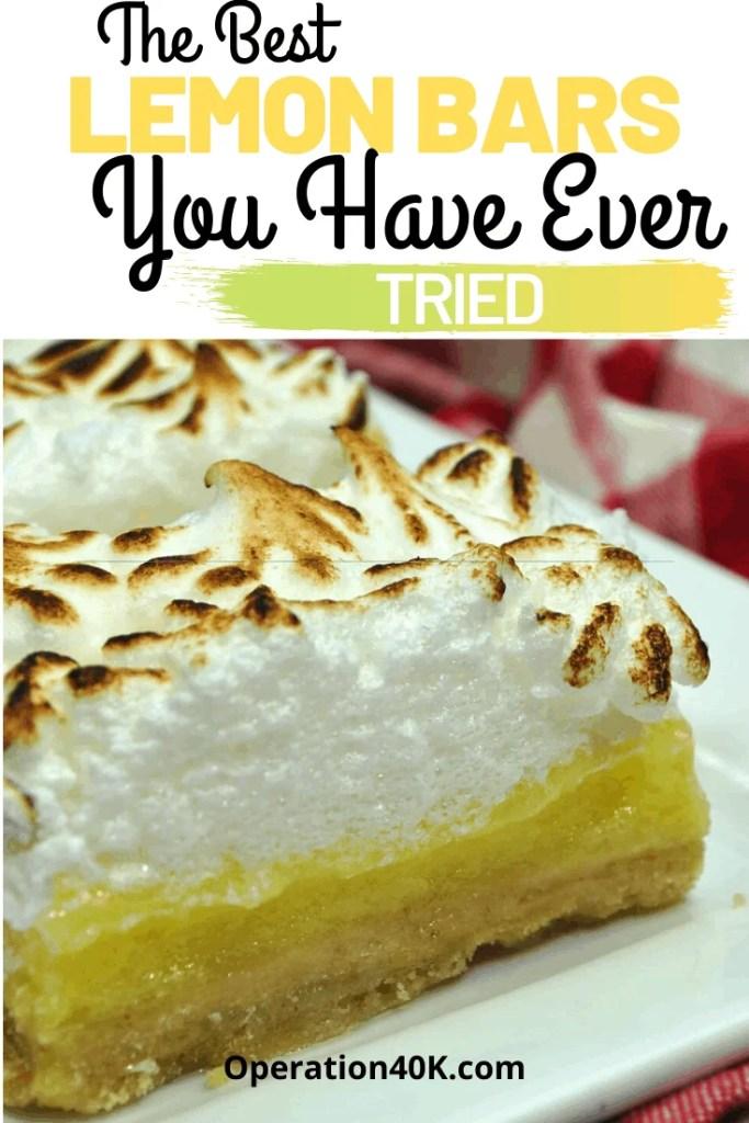 The best boozy creamy lemon Bars
