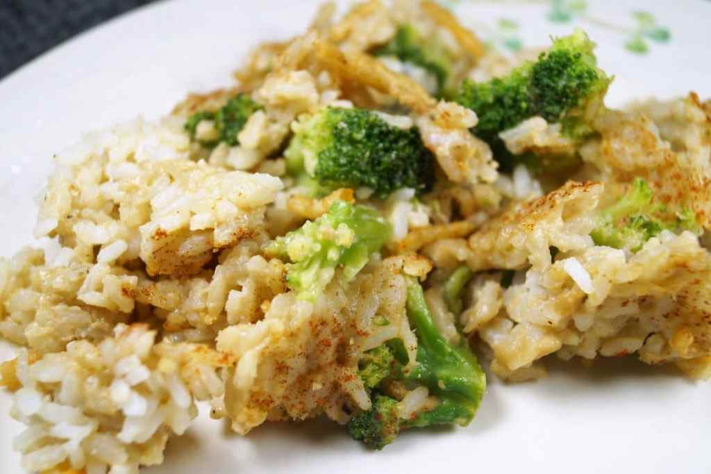 45 Meals for Tough Times broccoli rice recipe