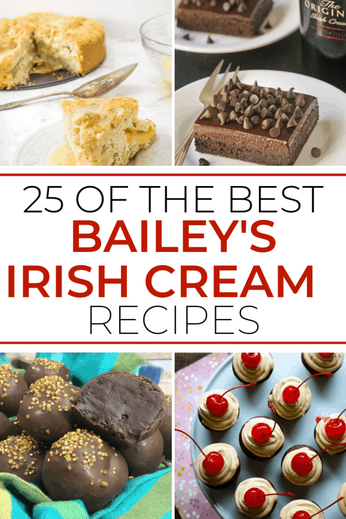 This list of Baileys Irish Cream Dessert Recipes is guranteed to make even the pickiest dessert eater fan of your baked goods!