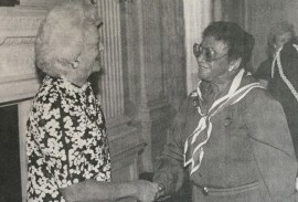With First Lady Barbara Bush