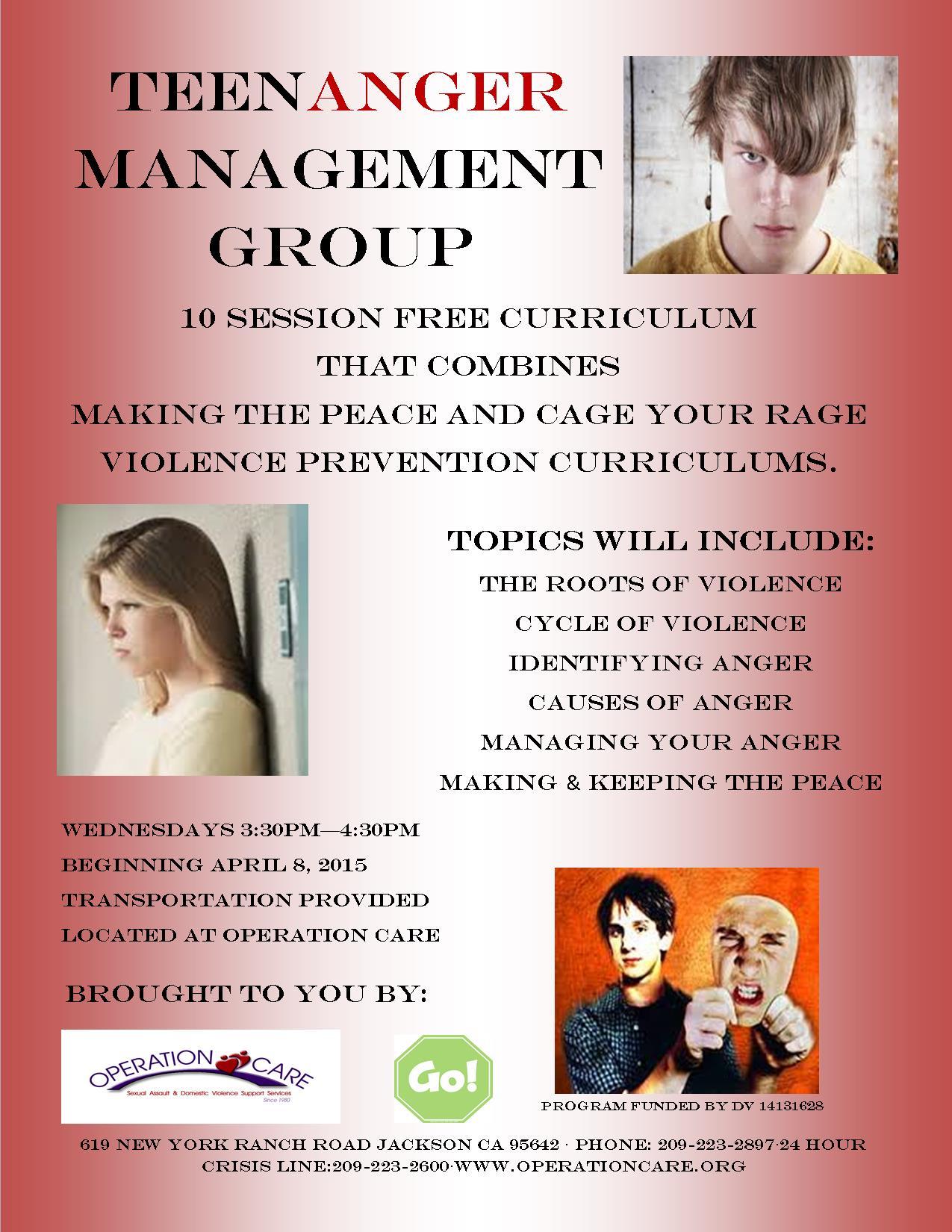 Teen Anger Management Group