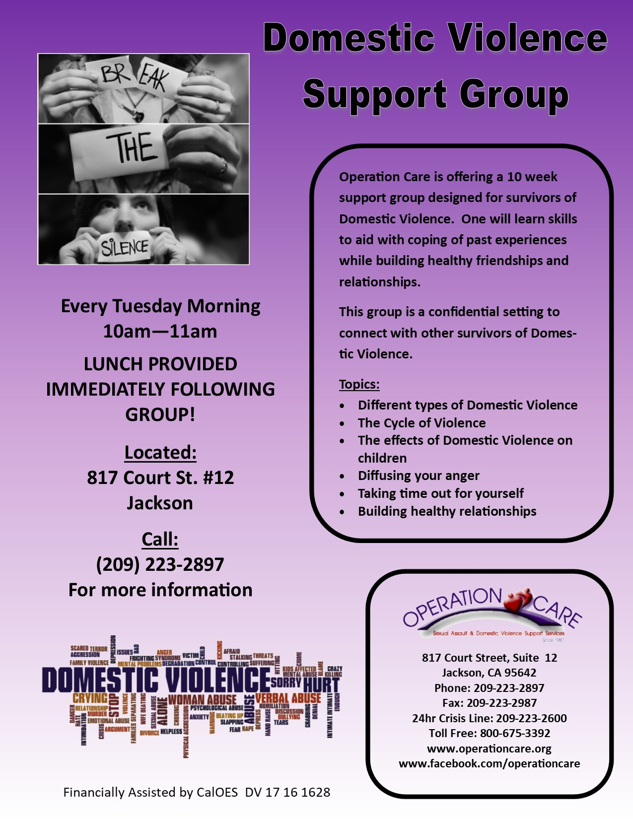 Domestic Violence Support Group