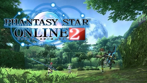 Phantasy Star Online 2 | Forest Area With Logo