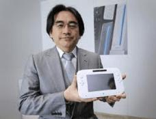 Satoru Iwata with the Wii U