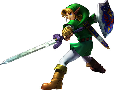 Link in Soul Calibur with the Master Sword