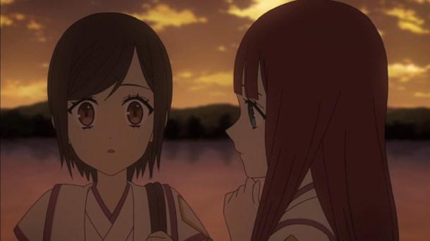 Shin Sekai Yori - Saki Watanabe and Maria Akizuki