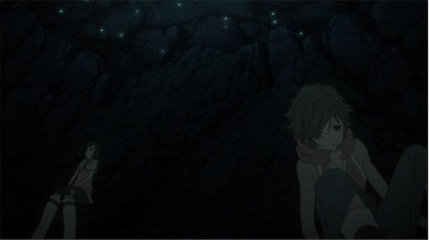 Shin Sekai Yori - Satoru and Saki in the cave.