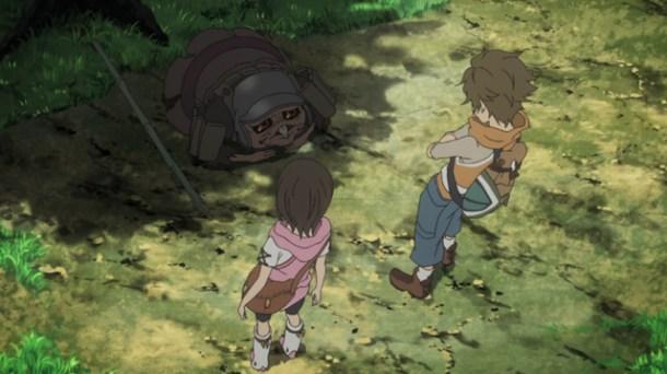 Shin Sekai Yori - Saki, Satoru, and the Robber Fly.