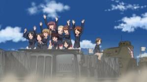 Girls und Panzer Ayumi, Azusa, Aya, Taeko, Noriko, Akebi, Shinobu, Karina, and Saki