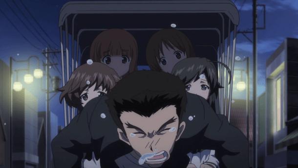 Girls und Panzer Shinzaburou, Yukari, Hana, Saori, and Miho