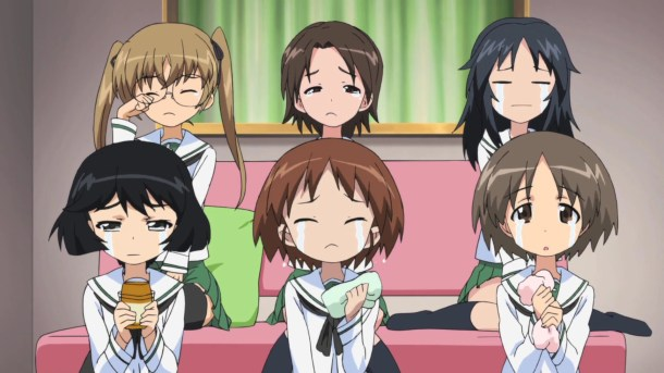 Girls und Panzer Aya, Azusa, Ayumi, Yuuki, Karina, and Saki