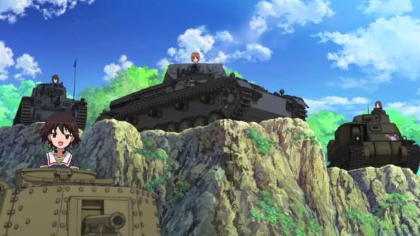 Girls und Panzer Kawashima, Noriko, Miho, and Azusa