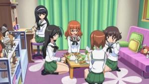 Girls und Panzer Mako, Hana, Saori, Miho, and Yukari