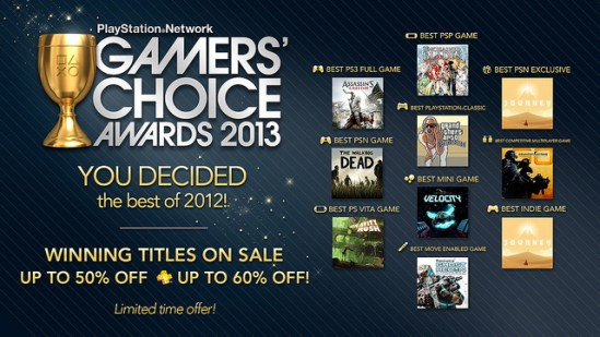 PSN Gamers' Choice