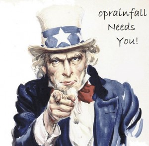 Uncle Sam Needs You to Join oprainfall!